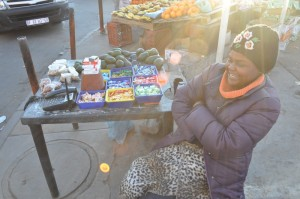 Street vendor and entrepreneur in Soweto, South Africa